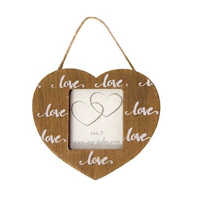 Fotogénci@s | Tienda y estudio de fotografía | Colgante decoración corazón de madera