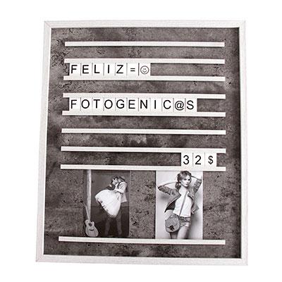 Fotogénci@s | Tienda y estudio de fotografía | Marco panel letras personalizable