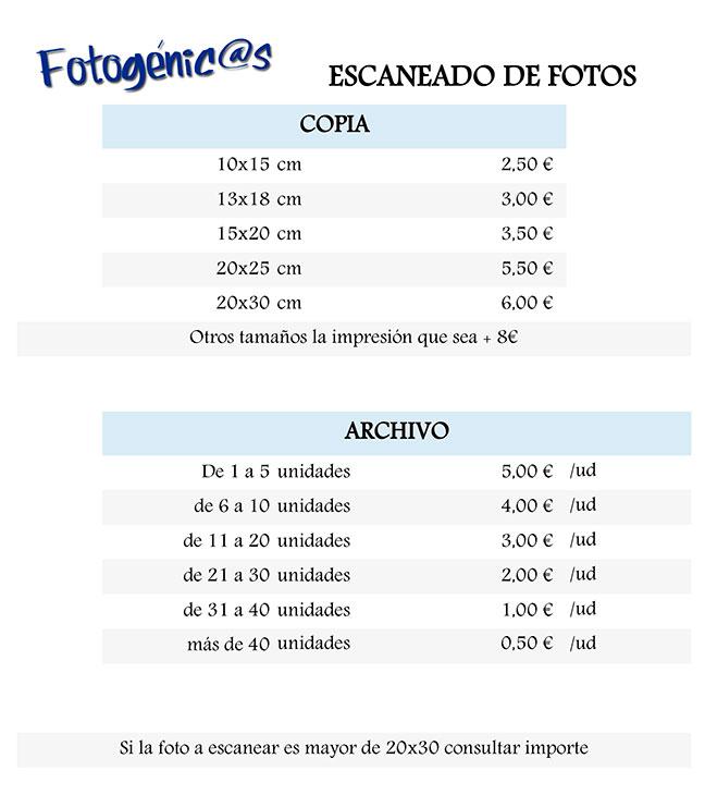 Fotogénci@s | Tienda y estudio de fotografía en El Casar | Escaneado de fotos